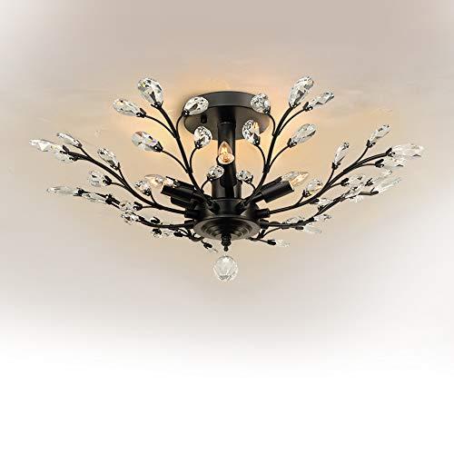 Crystal Chandelier, SPARKSOR Vintage Ceiling Light, Modern Elegant K9...