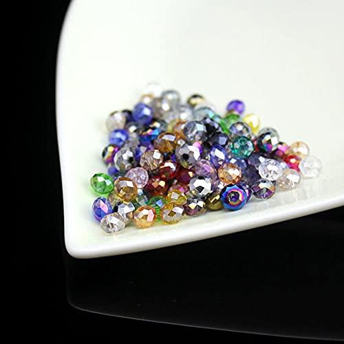 4 mm-12 mm color mezclado Austria cuentas de cristal redondas bola de cristal cuentas sueltas para hacer joyas bricolaje, collar pulsera accesorios-color ab mezclado, 12 mm 50 piezas