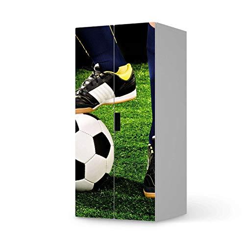creatisto Möbeltattoo für Kinder - passend für IKEA Stuva Schrank - 2 große Türen I Tolle Möbeldekoration für Baby-Zimmer Deko I Design: Fussballstar