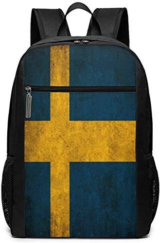 Borsa da viaggio con bandiera svedese per computer portatile leggero Bookbag business zaini-bandiera svedese