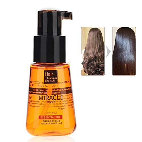 70 ml etherische olie voor haarverzorging, Arganolie Haarverzorging Haargroei-essentie Verbeter haarsplitsing Herstel beschadigd haar voor huid en haar