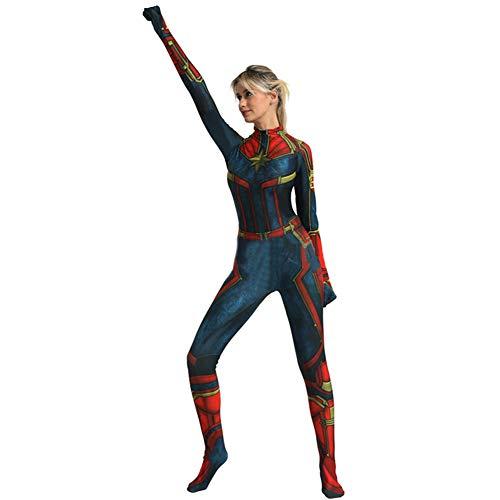 Captain Marvel Cosplay KostüM The Avengers Superheld Rollenspiel Frauen Kleidung Halloween Weihnachten KostüM KostüM Erwachsene Kinder Enger Bodysuit,Male-XXXL