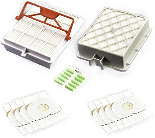 Juego de filtros higiénicos, filtro de larga duración, filtro de carbono, 8 bolsas para el polvo, aroma compatible con LUX Intelligence SP 115