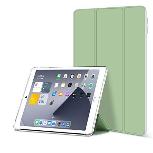 ZOYU iPad 9.7 Inch,iPad 6th Generation Case/iPad 5th Generation Case,Ultra Slim Protective Soft TPU Translucent Back Cover Smart Trifold Stand [Auto Sleep/Wake] for 9.7 iPad 2017 2018 case (Green)