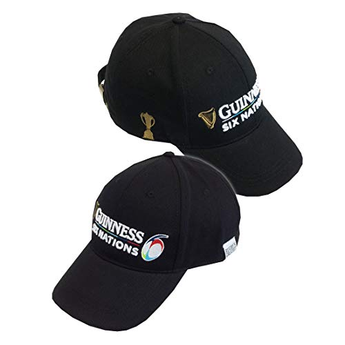 Guinness Unisex G6243 Baseballkappe, Schwarz, Weiß, Rot, Blau, Grün, One Size