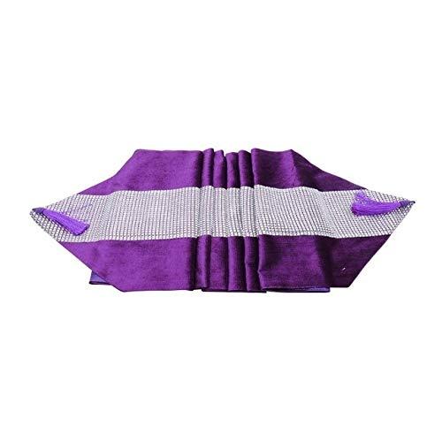 Fiesta de la Boda del Diamante del Color sólido Tabla Caminos de Mesa Moderna Corredor for Chirstmas decoración del hogar Mantel Mantel Hotel (Color : Purple, Size : 32x180cm)