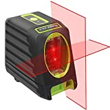 Huepar 2ライン レーザー墨出し器 赤色 クロスラインレーザー 高精度 ミニ型 持ち運び便利 収納バック付き L型マウント付き BOX-1R