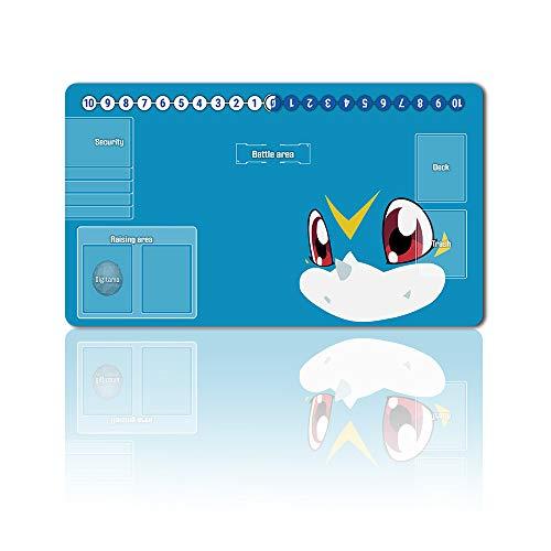 701879de - Digimon Spielematten , Digimon playmat Brettspiel Digimon Mouse pad MTG Playmat Tischmatte Spiele Größe 60X35 cm Mousepad Spielmatte für TCG CCG Yugioh Digimon Magic The Gathering