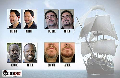 Blackbeard for Men Teinture de barbe temporaire Noir 12ml