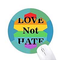 トランスジェンダーのバイセクシャルの愛は憎しみではなく 円形滑りゴムの雪マウスパッド