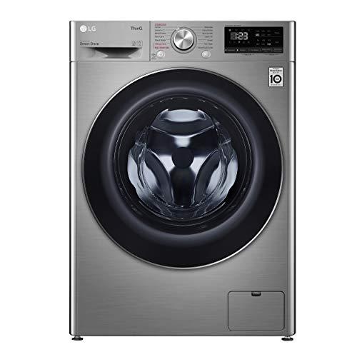 LG F2DV5S85S2WS - Lavadora secadora inteligente (fondo especial 46cm, 8,5/5 kg kg, 1200rpm, A+++(-30%), inox antihuellas, serie 500)