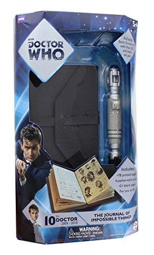 Underground Toys - Figurina - Doctor Who - Doctor Who The Journal of Impossible Things And Sonic Screwdriver