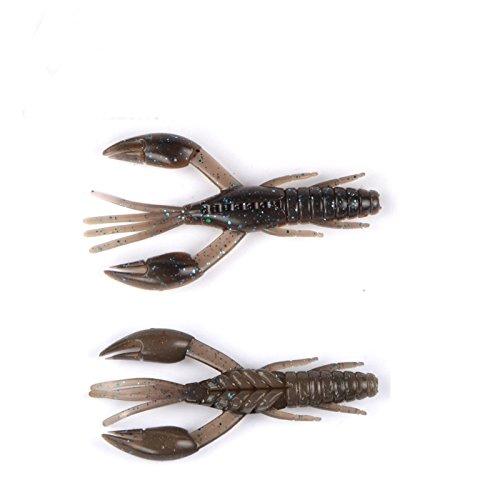 East Rain Les écrevisses Swimbait pour la pêche au Gros en Eau Douce de Langouste en Eau salée appâts Souples s'appliquent à Tous Les Types de Plates-Formes de pêche (PVC,3 Tailles Option)