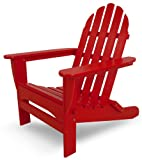 POLYWOOD AD5030SR Classic Folding Adirondack Chair, 38.5' H x31.25 W x 33.5' D, Sunset Red
