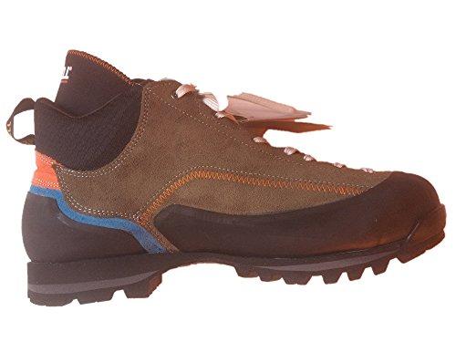Gronell Scais Backpacker e scarpe da trekking di ultima generazione, leggere, resistenti, impermeabili, con suola vibrante, (Oliva, blu, arancione.), 42 EU