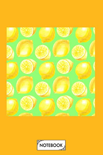 Watercolor Lemons Pattern Notebook: Journal, 6x9 120 Pages,...