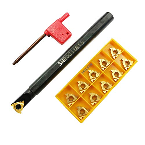 ASZLBYM SNR0013M16 CNC Lathe Internal Threading Boring Bar Turning Tool Holder With 10pcs 16IR AG60 Carbide turning insert