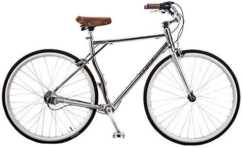 IMBM JDC-RS200 700C Chainless Road Racing Bike, 3 - Gear Shaft Drive Retro Bicycle, Aluminum Alloy Hard Frame (Color : A)