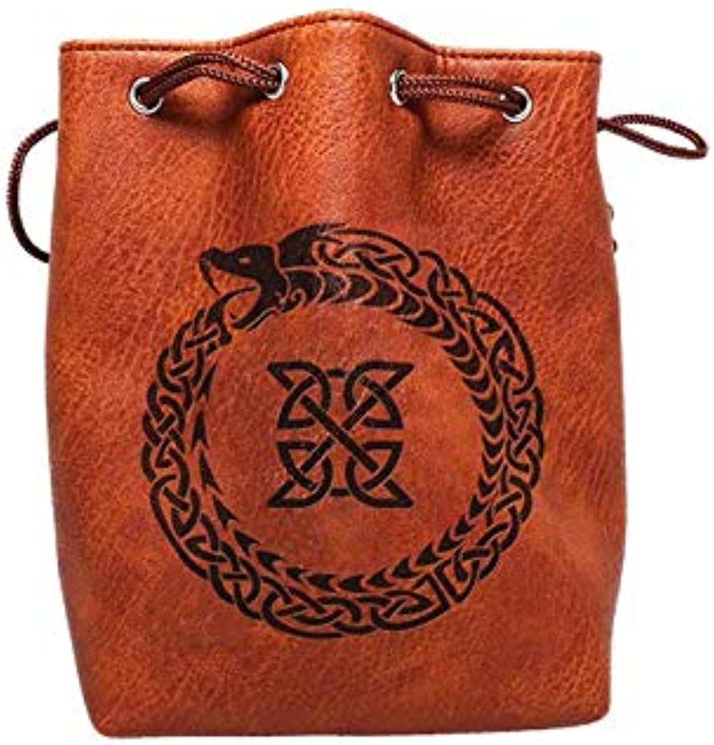 78d38658bc8d Brown Leather Lite Large Dice Bag Ourobgolds Design Brown Faux ...
