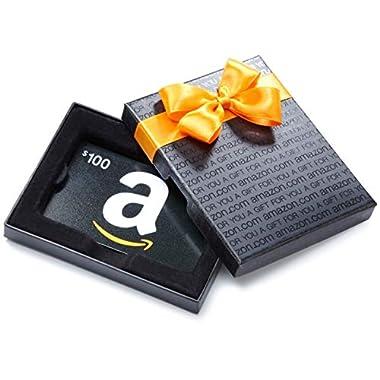Amazon.com Gift Card in a Black Gift Box ( A  Smile Card Design)
