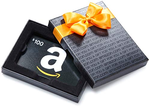Amazon.com $100 Gift Card in a Black Gift Box