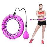 ShinePick Hula Hoop - Pneumatico Hoola Hoop regolabile per fitness e fitness, con gommini massaggianti per la perdita di peso, per adulti e ragazzi principianti