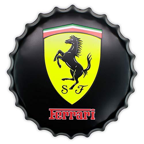 Master Lap Chapa Decorativa Scuderia Ferrari Negra