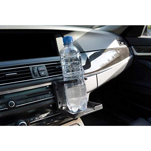 Cartrend 10463 Auto Getränkehalter klappbar Dosenhalter Flaschenhalter Trinkhalter Becherhalter für Lüftung mit Klemmbügel, schwarz