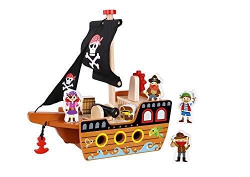 bateau pirate en bois lidl