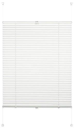 Gardinia Alu-Jalousie zum Klemmen, Sicht-, Licht- und Blendschutz, Alle Montage-Teile inklusive, Alu-Jalousie Easy Move, Weiß, 100 x 130 cm (BxH)