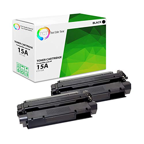 True Color Toner Compatible Toner Cartridge Replacement for HP C7115A  ( Black , 2 pk )