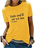Nlife Thou Shall Not Try Me Oversized Sweatershirt Graphic Tee Shirt for Womens Tshirts Ladies Tops