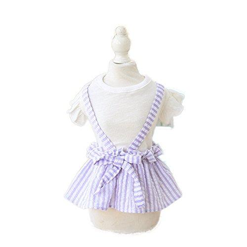 EgBert Haustier-Hundekleid Katze Prinzessin Für Hunde Kleidung Frühsommer-Rock Haustiere Tragen Kostüme Hauskleid - Lila - L
