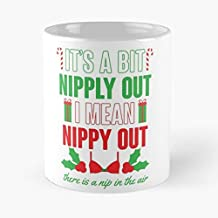 It's A Bit Nipply Out Classic Mug - The Funny Coffee Mugs For Halloween, Holiday, Christmas Party Decoration 11 Ounce White Mothchicago.