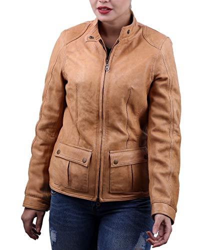 LeatherJacket4 Scarlett Johansson The Avengers Lederjacke - braun - X-Groß