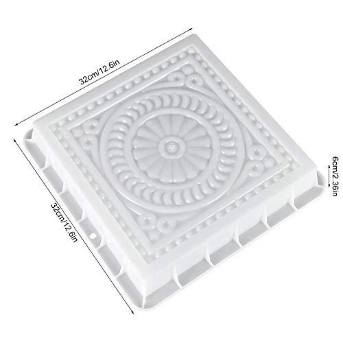 Molde Cemento Cuadrada de hormigón del molde DIY del pavimento plástico Ruta molde del fabricante de pavimentación de ladrillos de cemento El camino de piedra de pavimentación Moldes herramienta for l