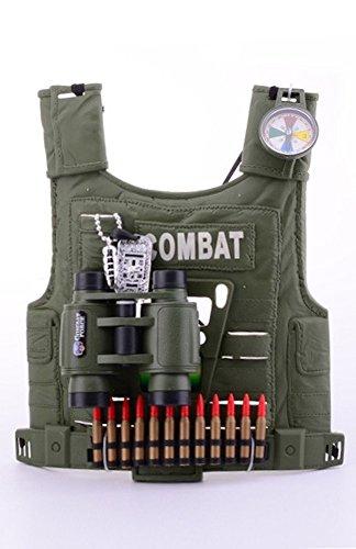 shoperama Army Forces Militär Accessoire Set für Kinder Jungen Soldat Kostüm Zubehör Armee