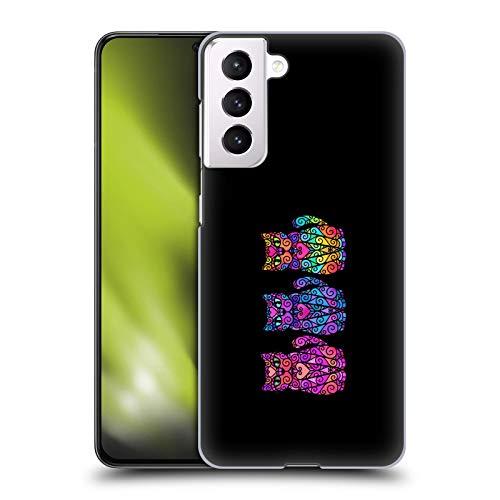 Head Case Designs Licenza Ufficiale Beth Wilson Trios Gatti A Spirale Cover Dura per Parte Posteriore Compatibile con Samsung Galaxy S21 5G