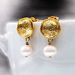 Perlen-Ohrringe gold