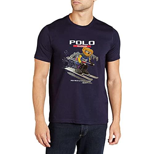Polo Ralph Lauren Camiseta para Hombre Polo Bear Racing (M, Navy)