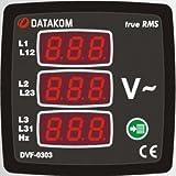 DATAKOM DVF-0303 voltimetro digital y medidor de frecuencia (3 fases)