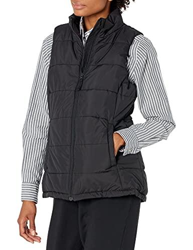 Amazon Essentials Women's Heavy-Weight Puffer Vest Outerwear, -Black, L
