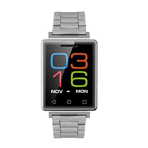 Surrecocean Armbanduhr für Mann/Smart Watch elegiant Ohr Handys Übung E07Email/3,9cm, für die 8g, Smart Watch für Kinder Frauen G7E Smartwatch für Herren Stahl–silversmart Armbanduhr Sport