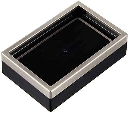 Price comparison product image iDesign Clarity Bar Soap Dish for Bathroom,  Black / Brushed