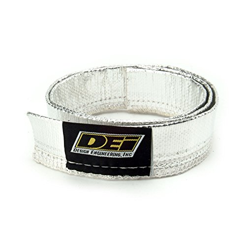 """Design Engineering 010403 Heat Sheath 3/4"""" I.D. x 3ft Aluminized Sleeving for Ultimate Heat Protection, Silver"""