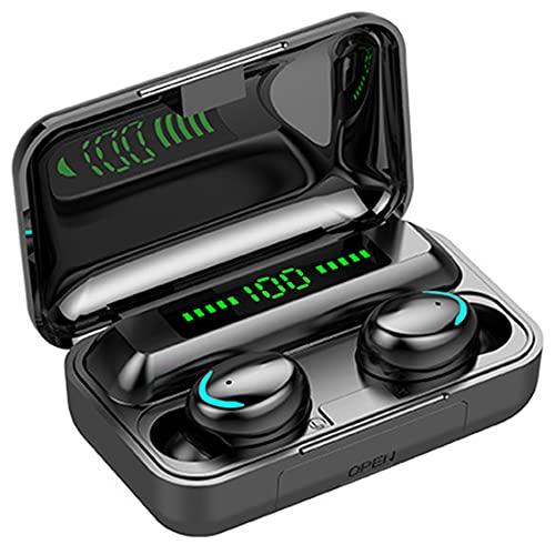 Addnkchn Auriculares inalámbricos - Bluetooth 5 Auriculares intrauditivos Control táctil con funda de carga de 1200 mAh