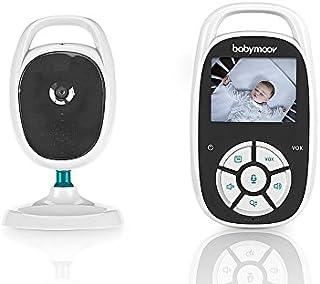 Babymoov YOO See Vigilabebé con Cámara - Pantalla LCD de Color de 2.4 - Visión Nocturna - Kit de Pared - Alcance 250 m - Seguridad bebe