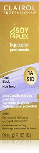 Clairol Professional Liquicolor 1A/51D Cool Black, 2 oz