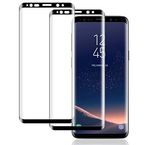 2 Pièces Verre Trempé Compatible avec Samsung Galaxy S8, Ecran Vitre Protecteur pour Galaxy S8, Full Coverage, Sans Bulles, Anti Rayures Film Protection Ecran pour Samsung S8