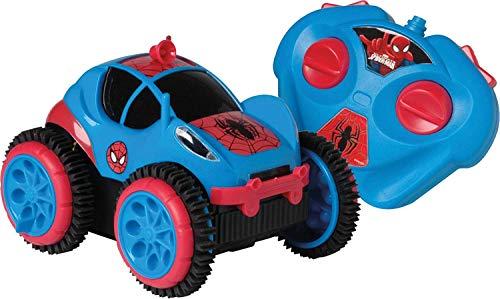 Carro de Controle Remoto Spider Flip, Spiderman, Marvel, 3 Funções, Candide